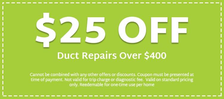 discount on duct repairs over $400