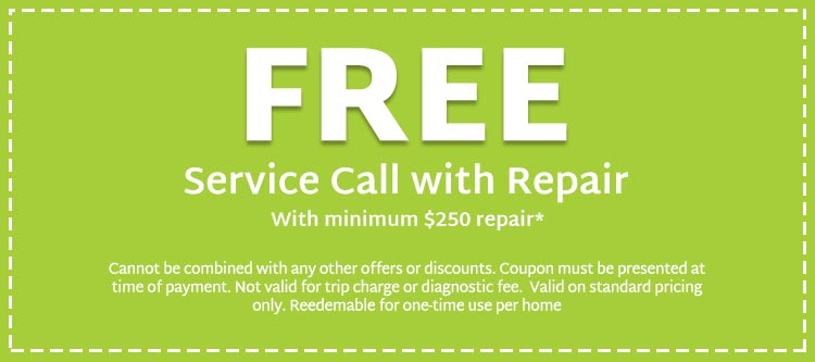 coupons for free service call with repair