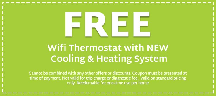 coupon for free thermostat with new HVAC system