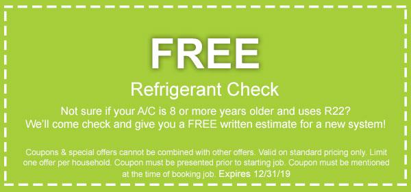 coupon for free refrigerant check